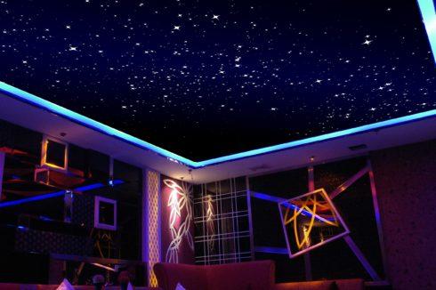 Звездное небо в кафе