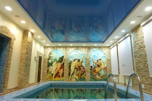 синий глянец бассейн