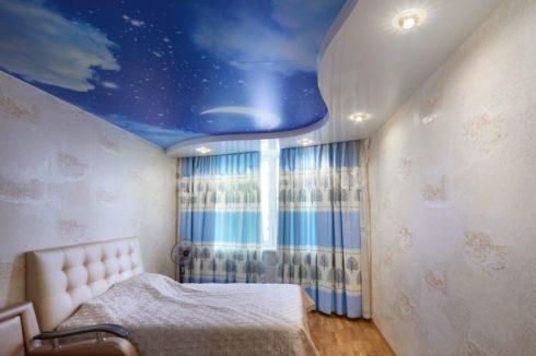 потолок звездное небо с подсветкой