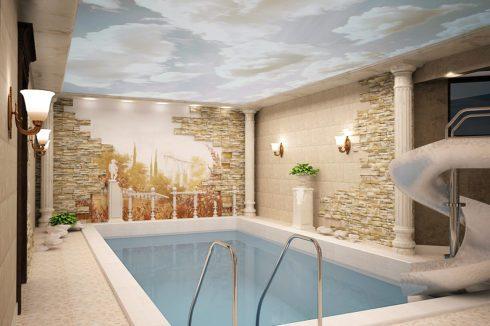 бассейн в римском стиле