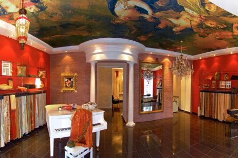 фреска потолок в комнате