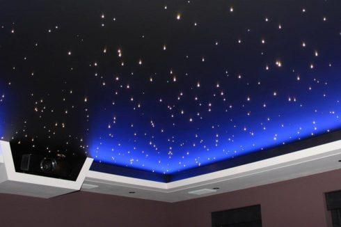 ночное небо с проектором