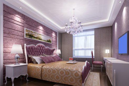 белый натяжной многоуровневый потолок
