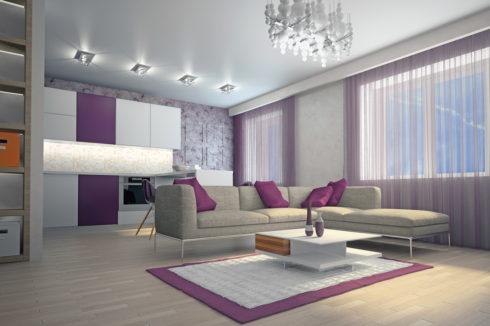 потолок в гостинке