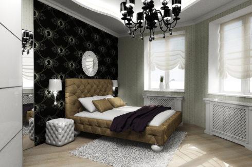 спальная комната с кроватью