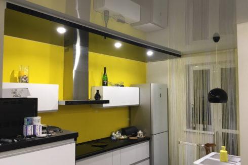 белый глянец кухня одноуровневый