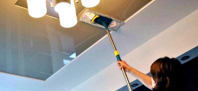 Моем потолок: фото