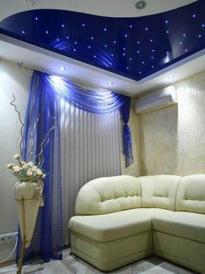 """Освещение в подвестном потолке """"Звездное небо"""""""