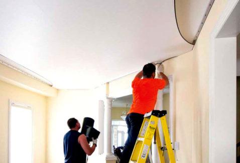 Преимущества натяжных потолков: фото